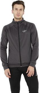 Aarmy Fit Grey Fleece Jacket for Men