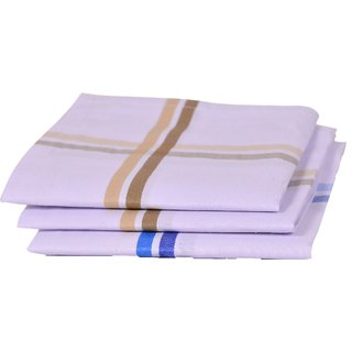 Concepts 100% Cotton Pack of 3 Men's Handkerchief (Assorted)