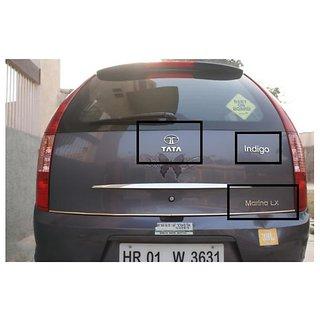 LOGO TATA INDIGO MARINA lx rear kit MONOGRAM EMBLEM CHROME as shown in pic
