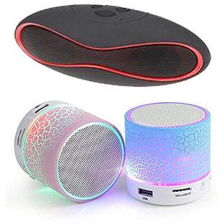 Portable Mini Bluetooth Speaker Combo with Mini Music Bluetooth Speaker  Pack of 2 Speakers  Multicolor