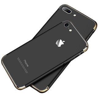 RGW 3 in 1 Anti Dust Shockproof Slim Back Case Cover for iPhone 7 Plus - Black