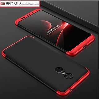 RGW 3 in 1 Red Case Cover for Redmi 5 - Shockproof, Anti Knock, Anti-Skid, Dustproof, Drop-Resistant