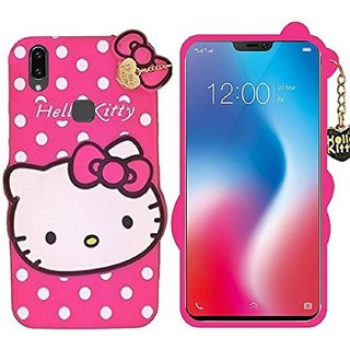 RGW Hello Kitty Back Case Cover for Vivo V9 - Shockproof, Anti Knock, Anti-Skid, Dustproof, Drop-Resistant