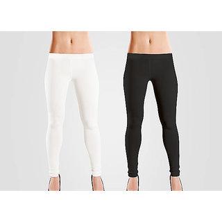 white and black legging combo