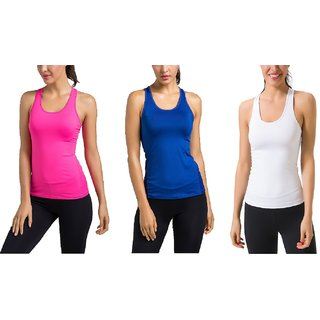 Buy The Blazze Women s Workout Vest Compression Racerback Stretch Tank Top  Online - Get 50% Off edf58e284d