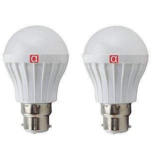 Pack of 2 Alpha 5 Watt Warm White B22 Cap Type LED Bulb