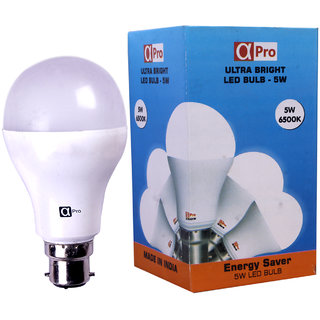Pack Of 2 Alpha B22 Warm White 5 Watt LED Bulbs