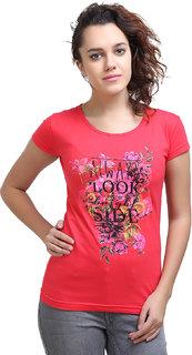 Origin indie Red flower Print T Shirt