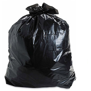 Ezzideals Plastic 300Pieces Dustbin Bag Disposable Black (19X21 Inch)