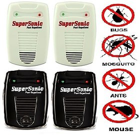 pack of 4 supersonic electronic insect and pest control machine japanese technology (6 IN 1)