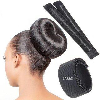 2 Pcs Gulzar Fashion Daily-use Donut Bun Maker (Black)