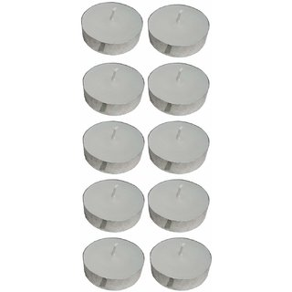 atorakushon Smokeless Scented White Tealight Candles Candle For Diwali Pack Of 80 .BIRTHDAY SPCEAL