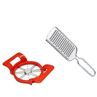 Apple Cutter and Cheese Graters Combo- Stainless Steel (Multicolor)