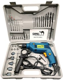 Camel 13Mm 500W Impact Drill Machine With Reversible Function + 35 Accessories