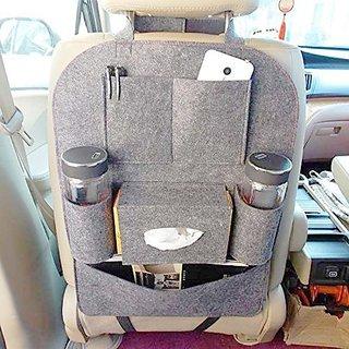 HOUSE OF QUIRK Car Backseat Storage Bag Functional Organizer 6 Pocket - Grey
