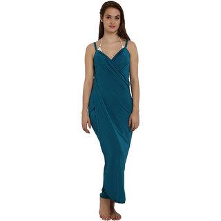 Mesmerizing Dark State Blue Wrap Maxi Dress