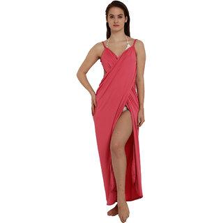 Mesmerizing Pink Wrap Maxi Dress