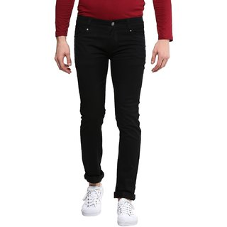 Waiverson Slim Fit Men's Black Jeans