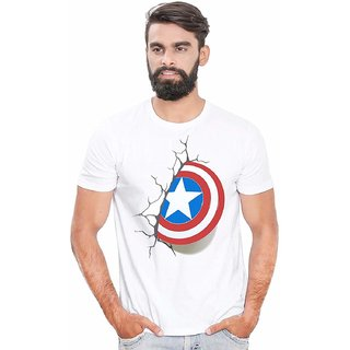 DOUBLE F ROUND NECK HALF SLEEVE WHITE COLOR STAR PRINTED T-SHIRTS