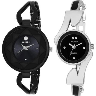 64791e92ee Buy Kajaru L-2119-Girls Black Dial (Casual+PartyWear+Formal) Designer 2  Combo Watch For Girls And Woman Online - Get 75% Off