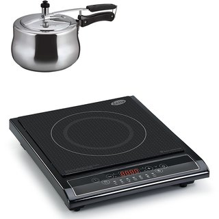 3071 Glen Induction Cooker + Alda Aluminum Pressure Cooker 3.0Ltr ( COMBOS )