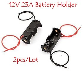 E117 Plastic 2pcs/lot Battery Holders for 12V 23A Battery Black Colour