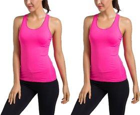 The Blazze Women's Workout Vest Compression Racerback Stretch Tank Top