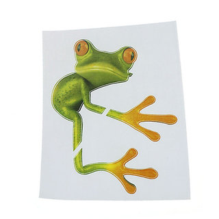 Futaba 3D Frog Hug Funny Car Sticker