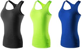 The Blazze Women's Workout Vest Compression Racerback Stretch Tank Tops