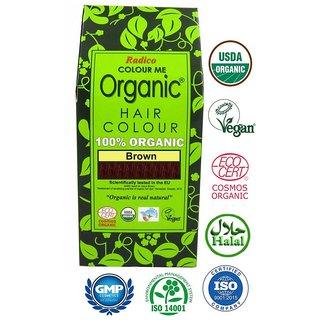 Radico 100 Organic Brown Hair Colour (100 g)
