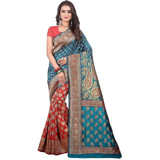 pr creation self design woven bnarasi silk saree daily wear saree with blouse party wear saree