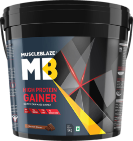 MuscleBlaze High Protein Lean Mass Gainer, 11 Lb Chocol