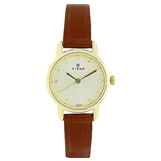 Titan Analog Beige Dial Womens Watch-NK2572YL01