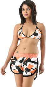 Retro print Orange multi colour edmarvellous 2 piece bikini