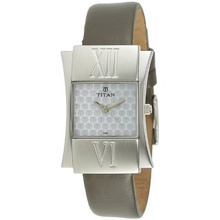 Titan Work Analog White Dial Womens Watch - 9700SL01