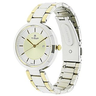Titan Analog Gold Dial Womens Watch-2480bm02