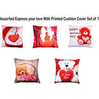Welhouse India Assorted 16X16 Inches 1 Cushion cover