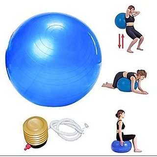 AVMART Anti Burst 65 cm Exercise Fitness Yoga Ball with Foot Pump (Assorted Color Will Be Sent) (AGYMBALL6501A)