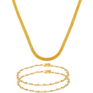 Gold Plated Gold Color Designer Daily wear Chain for Women by GoldNera