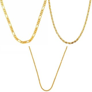 Combo for Men Gold Plated 3 Chains by GoldNera