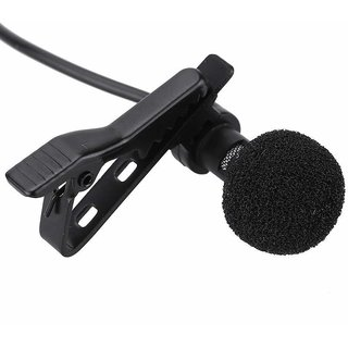 Paytech 3.5mm Clip Microphone For Youtube, Collar Mike For Voice Recording, Lapel Mic Mobile, Pc, Laptop, Android Phone