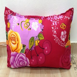 Pink Floral Printed Pillow Cover Set of 2 By Azaani