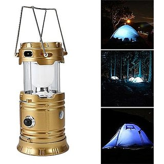 Favourite Deals Solar LED Rechargeable Camping Lantern Phone charger (Multicolor)