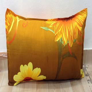 Sunflower Printed Pillow Cover Set of 2 By Azaani