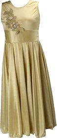Princess Golden Party wear Dress for Girls