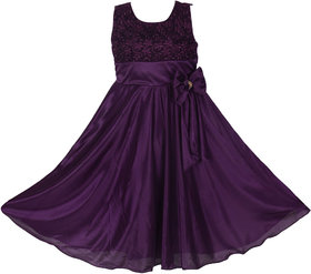 Prince and Princess Purple Satin Frock