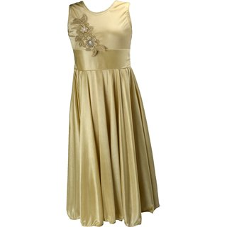 Princess Golden Party wear Dress for Girls