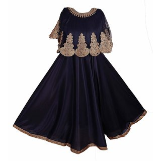 Prince and Princess Golden Embroidery poncho frock