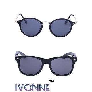 e6862ae2e9 Buy Ivonne Multicolor UV Protected Unisex sunglasses Pack of 2 ...