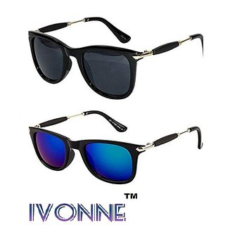 Ivonne Golden Stick Wayfarer Rubber Temple Stylish Branded Gogglessunglasse
